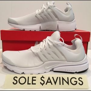 Nike Air Presto Essential Triple White Men's Sizes